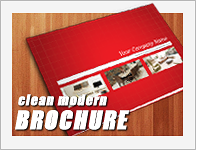 clean modern brochure template